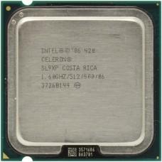 Процессор БУ INTEL CELERON 420 [Socket 775. 1-ядерный. 1600 МГц. Conroe. Кэш L2 - 0.5 Мб. 65 нм. 35 Вт]