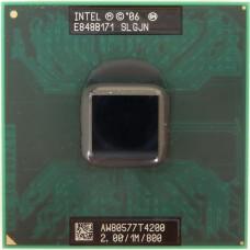 Процессор БУ INTEL PENTIUM DUAL-CORE T4200 [2000 MHz. Socket PG478.478-pin micro FC-PGA.Clock multiplier 10.64 bit.35 Watt]
