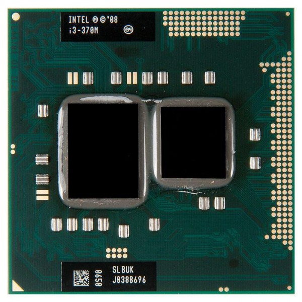 Процессор БУ INTEL CORE i3-370M [2400 MHz.Socket G1.988-pin micro-FCPGA10 (rPGA988A).Clock multiplier18.64 bit.35 Watt]