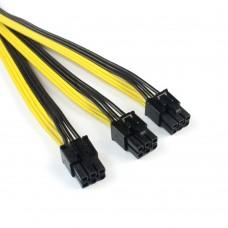 Переходник для GPU 6 PIN TO 2 X 6+2 PIN gpu power adapter splitter cable