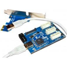 Разветвитель PCI-E 3X molex. USB. SATA