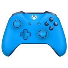 Беспроводной геймпад Microsoft для Xbox one синего цвета с разъемом 3.5 мм и bluetooth WL3-00020