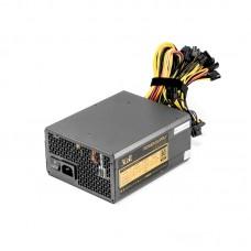 Блок питания 3Cott 1600W 3Cott-M1600A. ATX. КПД.85%.  20+4P. 8P. 12x PCI-E (6+2P). 7x SATA. 8x MOLEX. 14cm fan. 1.5m power cord. OEM 9320180416004