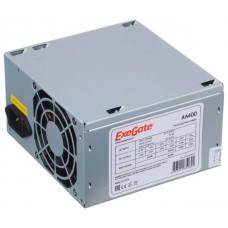 Блок питания 400W Exegate AA400, ATX, 8cm fan, 24p+4p, 2*SATA, 1*IDE без защиты