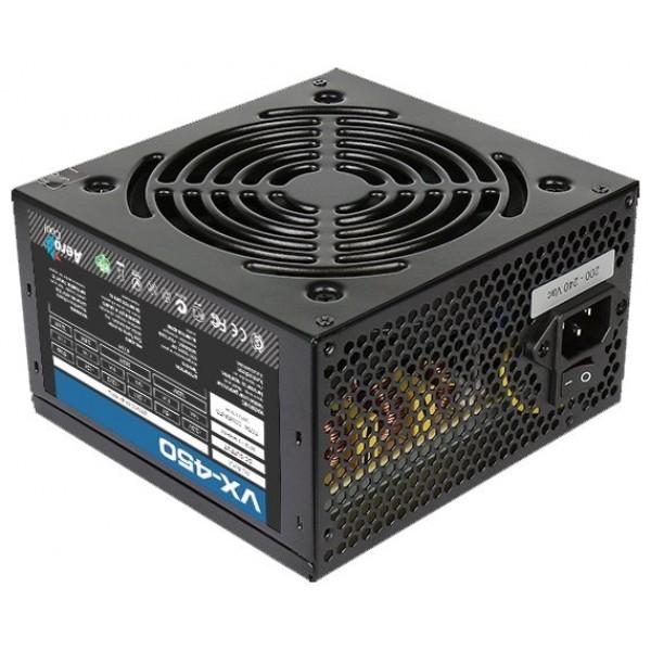Блок питания Aerocool Eco 450W ATX v2.3 Haswell. fan 12cm. 400mm cable. power cord. 20+4P. 12V 4P. 1x PCI-E 6P. 2x SATA. 2x PATA. 1x FDD Retail 4710700957875