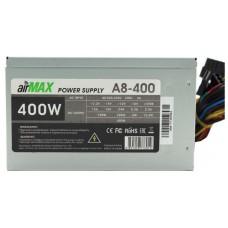 Блок питания AirMax A8-400W 400W ATX (24+4+6пин. 80mm (SCP)\(OVP)\(OCP)\(UVP)\ATX 12V v.2.3) A8-400W