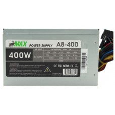 Блок питания AirMax A8-400W ATX (24+4+6пин, 80mm (SCP)\(OVP)\(OCP)\(UVP)\ATX 12V v.2.3)