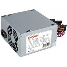 Блок питания Exegate EX253683RUS-S AA450, ATX, SC, 8cm fan, 24p+4p, 2*SATA, 1*IDE + кабель 220V с защитой от выдергивания