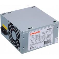 Блок питания Exegate EX256711RUS-S AA500. ATX. SC. 8cm fan. 24p+4p. 2*SATA. 1*IDE + кабель 220V с защитой от выдергивания EX256711RUS-S