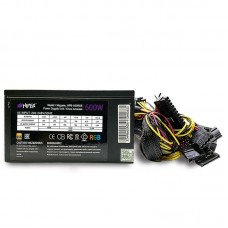 Блок питания HIPER HPB-600RGB (ATX 2.31, 600W, ActivePFC, RGB 140mm fan, Black) BOX