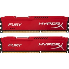 Память ddr3 8gb (pc-12800) 1600mhz Kingston Hyperx fury red series cl10 kit of 2 .retail. (hx316c10frk2/8) HX316C10FRK2/8