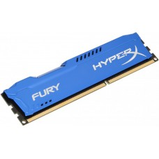 Модуль памяти dimm ddr3 (1600) 8gb Kingston Hyperx fury hx316c10f/8. cl10. синий радиатор. rtl HX316C10F/8