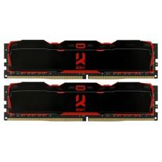 Модуль памяти DDR4 Goodram IRDM X Black 8GB KIT(4GBx2) 2800MHz CL16 SR [IR-X2800D464L16S/8GDC] with radiators IR-X2800D464L16S/8GDC