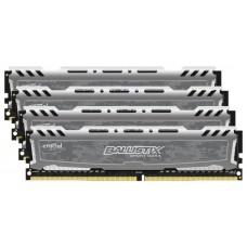Память оперативная Crucial Ballistix Sport LT gray DIMM Kit 16GB. DDR4-2400. CL16-16-16 (BLS4K4G4D240FSB) BLS4K4G4D240FSB