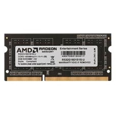Память оперативная AMD Radeon 2GB DDR3 1600 DIMM R5 Entertainment Series Black R532G1601U1S-U Non-ECC. CL11. 1.5V. RTL