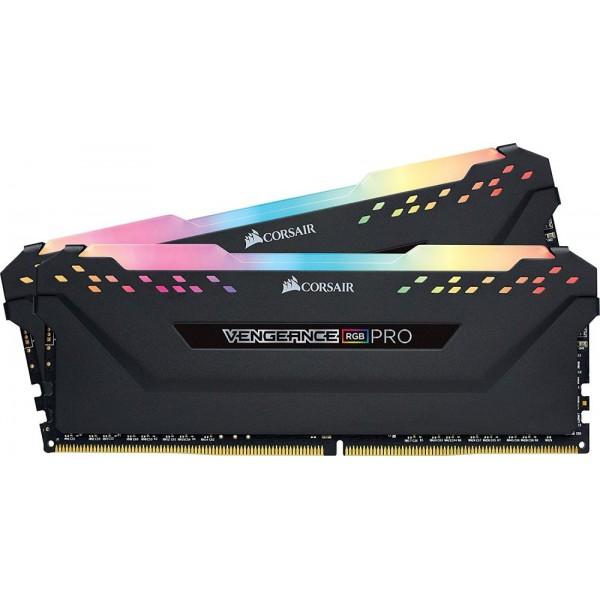 Оперативная память Corsair Vengeance RGB PRO DIMM Kit 16GB. DDR4-3200. CL14-14-14-34 (CMW16GX4M2C3200C14) CMW16GX4M2C3200C14