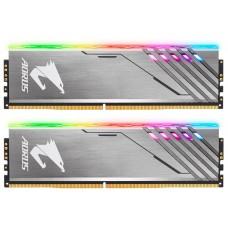 Оперативная память 16GB Gigabyte DDR4 3200 DIMM Aorus RGB Silver Gaming Memory GP-AR32C16S8K2HU416RD Non-ECC. CL16. 1.35V GP-AR32C16S8K2HU416RD