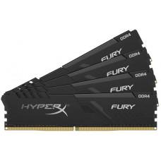 Оперативная память Kingston DRAM 16GB 2400MHz DDR4 CL15 DIMM (Kit of 4) HyperX FURY Black HX424C15FB3K4/16