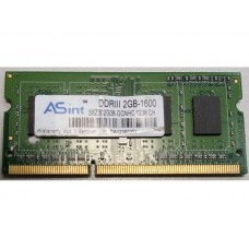 Память оперативная Asint 2 gb ddr3 so-dimm 204pin pc3-12800s 1600 mhz