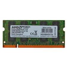 Память оперативная AMD Radeon 2GB DDR2 800 SO DIMM R3 Value Series Green R322G805S2S-UG Non-ECC. CL5. 1.5V. RTL R322G805S2S-UG