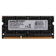 Оперативная память AMD Radeon 4GB DDR3 1333 SO DIMM R3 Value Series Black R334G1339S1S-U Non-ECC. CL9. 1.5V. Retail R334G1339S1S-U