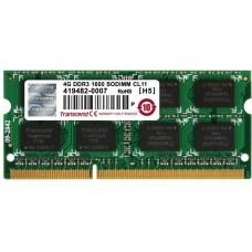 Модуль памяти Transcend 4GB SO-DIMM DDR3. 1600МГЦ. 2RX8. 1.5V JM1600KSN-4G