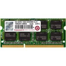 Модуль памяти Transcend 4GB SO-DIMM DDR3. 1600МГЦ. 1RX8. 1.5V JM1600KSH-4G