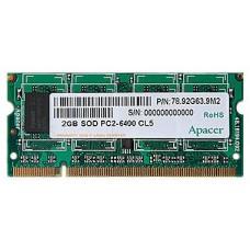 Память оперативная Apacer 2GB DDR2 800 SO DIMM CS.02G2B.F2M Non-ECC. CL6. 1.8V. R2. 128x8. RTL