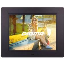 Фоторамка Digma 8'' pf-833 1024x768 черный пластик пду видео PF833BK