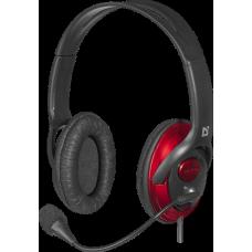 Гарнитура Defender Phoenix 875U USB черный/красный (63876) 63876