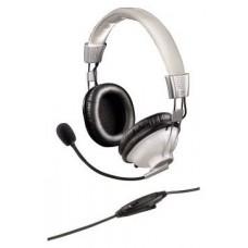 Наушники с микрофоном Hama essential hs 300 черный/серебристый 2м мониторы оголовье 00053982