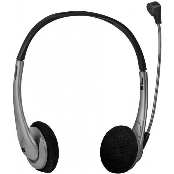Гарнитура Defender aura 114 черный/серый (кабель 1.8м) 63114