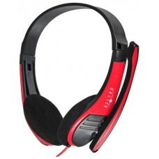 Гарнитура Oklick hs-m150 черный/красный 2м накладные 359486