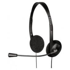 Гарнитура Hama hs-101 черный 1.7м накладные оголовье 00053999