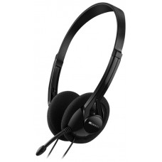 Гарнитура Canyon CNE-CHS01B headset with microphone. volume control and adjustable headband. cable 1.8M. Black CNE-CHS01B
