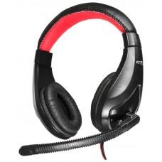 Гарнитура Oklick HS-L100 черный/красный 2м мониторы NO-530