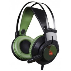 Наушники с микрофоном A4 Bloody J450 черный/зеленый 2.2м мониторы оголовье J450