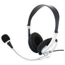 Гарнитура стерео Gembird MHS-615 . серебряный/черный.регулятор громкости MHS-615