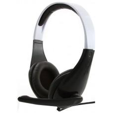 Гарнитура стерео Gembird MHS-901 . черный/белый.  регулятор громкости MHS-901