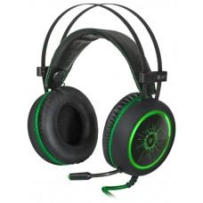 Гарнитура Defender DeadFire G-530D черный+зеленый. кабель 2.2 м 64531