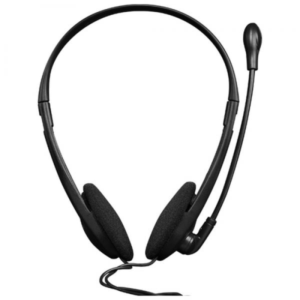 Гарнитура Canyon CNS-CHS01BO PC headset with microphone. volume control and adjustable headband. cable 1.8M. Black/Orange CNS-CHS01BO