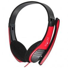 Компьютерная гарнитура Oklick HS-M150 черный/красный NO-003N