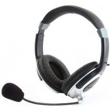 Гарнитура  Gembird MHS-290 . черный.регулятор громкости. стерео MHS-290