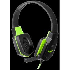 Компьютерная гарнитура Defender Warhead G-320 черно-зеленый 64032