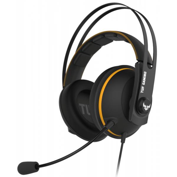 Игровые наушники ASUS TUF Gaming H7 Core чёрно-жёлтый 90YH01RY-B1UA00