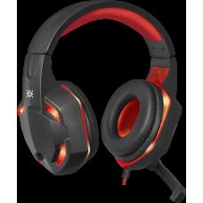 Гарнитура DEFENDER WARHEAD G-370 BLACK/RED 64037 64037