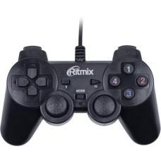 Геймпад Ritmix GP-005 Black для ПК. USB. 2 вибромотора. 16 кнопок. 1.5м GP-005