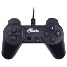Геймпад Ritmix GP-001 Black для ПК. USB. 14 кнопок. 1.5м GP-001