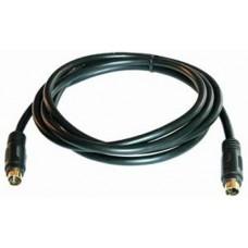 Кабель Vcom S-Video (M) -. S-Video (M). 1.5m.  (VAV7187-1.5M). позолоченные контакты. черный VAV7187-1.5M