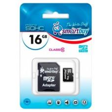 Память MicroSDHC 016Gb SMARTBUY CLASS 10